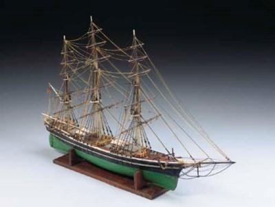 A model of the clipper ship Fl
