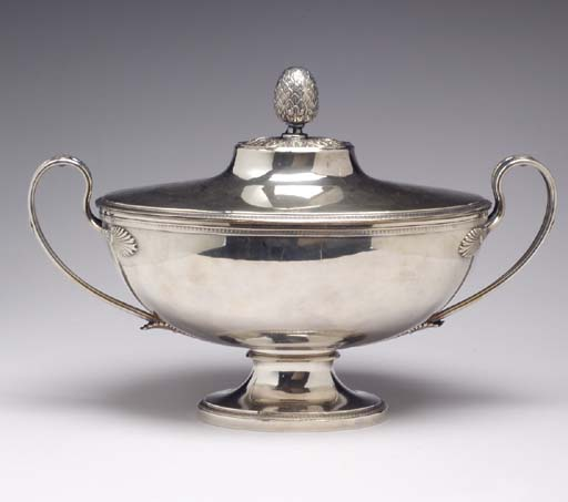 A GROUP OF SILVER-PLATED TABLE