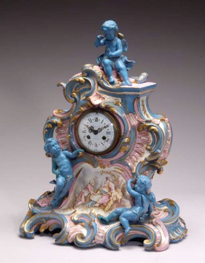 A SEVRES STYLE TURQUOISE AND P