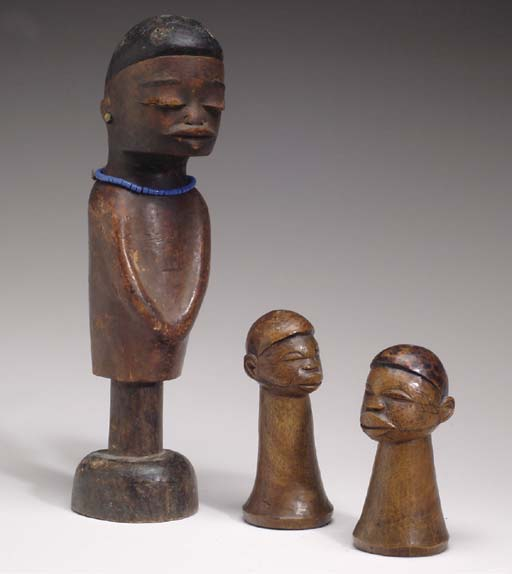 THREE MAKONDE CARVINGS,