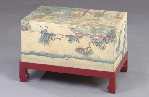 A CHINESE POLYCHROME PAINT DEC