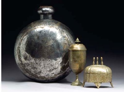 A GROUP OF EASTERN BRASS AND S