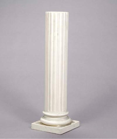 A PAIR OF NEOCLASSIC FLUTED WH