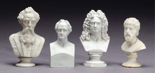 A GROUP OF NINE PORCELAIN AND