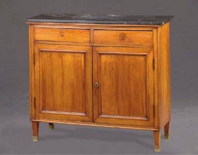 A DIRECTOIRE MARBLE-TOP FRUITW