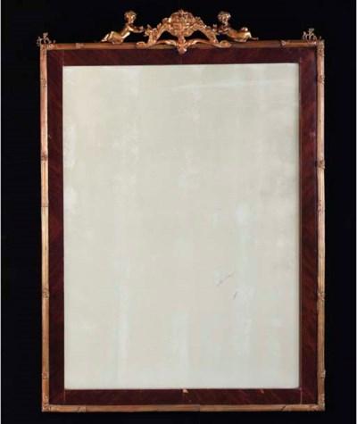 A PAIR OF LOUIS XV STYLE MAHOG