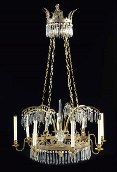 A NEOCLASSICAL STYLE GILT-BRON