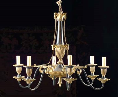 AN EMPIRE STYLE GILT AND PAINT