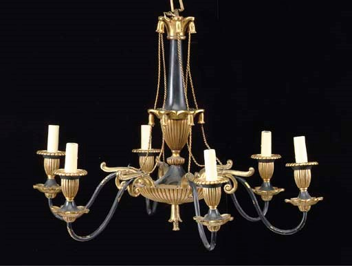 AN EMPIRE STYLE PATINATED AND