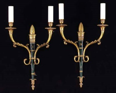 A SET OF FOUR EMPIRE STYLE PAT