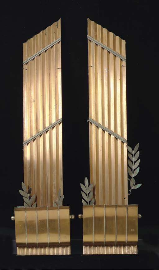 A PAIR OF ART DECO STYLE COPPE
