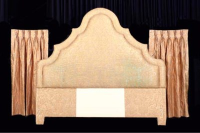 A FORTUNY UPHOLSTERED HEADBOAR