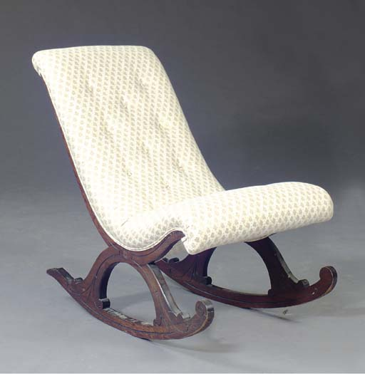 A VICTORIAN GRAINED ROSEWOOD L