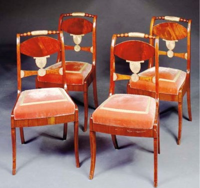 A SET OF FOUR NEOCLASSIC STYLE