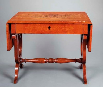 A CONTINENTAL ELM AND MARQUETR