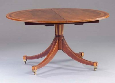 A REGENCY STYLE MAHOGANY AND S