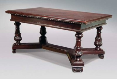 A BAROQUE STYLE STAINED PINE E