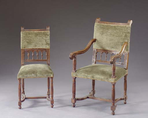 A SET OF EIGHT BAROQUE STYLE W