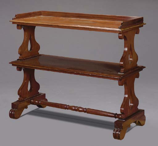 A VICTORIAN CARVED MAHOGANY DU