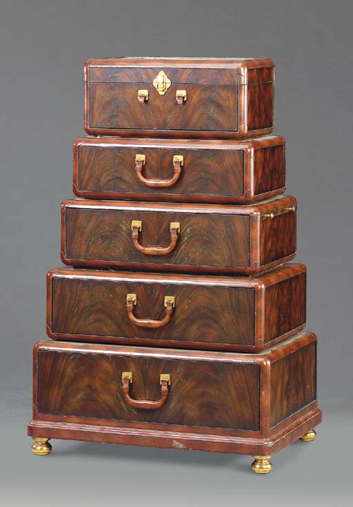 A MAHOGANY CHEST-OF-DRAWERS MO