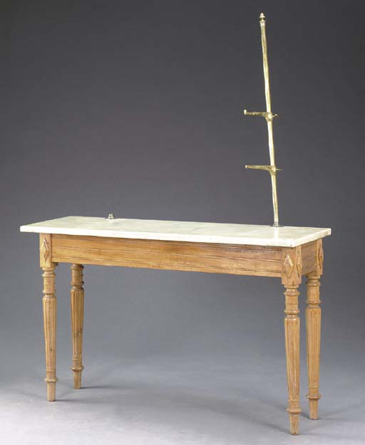 A GEORGE III STYLE BIRCH AND M