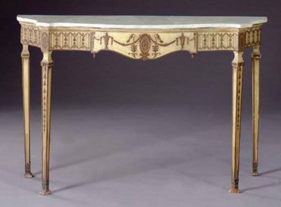 A GEORGE III STYLE PAINT-DECOR