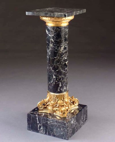 A MARBLE AND ORMOLU MOUNTED CO