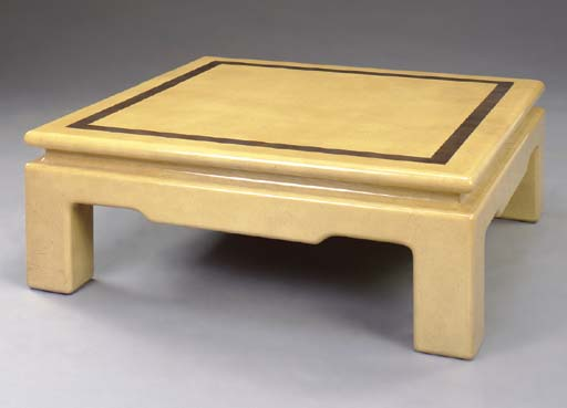A CHINESE STYLE LACQUERED LOW