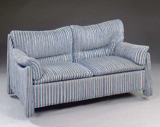 A STRIPED MULTICOLORED UPHOLST