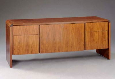 A ROSEWOOD CREDENZA CABINET,