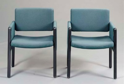 A PAIR OF GREY LACQUER AND BLU