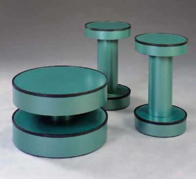 A PAIR OF CIRCULAR TURQUOISE S