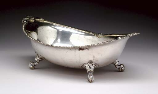 A SILVER-PLATED CENTERPIECE BO