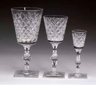 A CONTINENTAL CUT-GLASS STEMWA