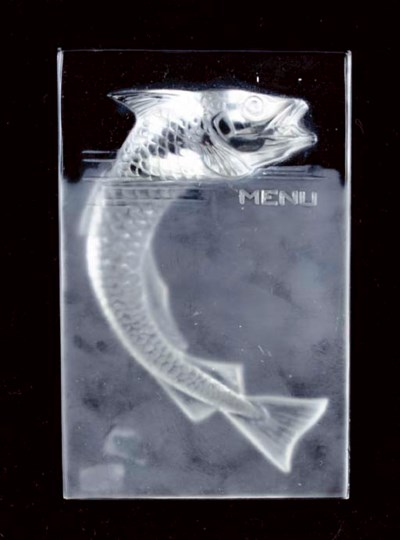 A LALIQUE 'POISSON' CLEAR AND