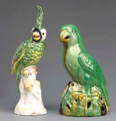 TWO PAIRS OF POLYCHROME DECORA