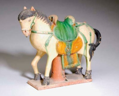 A CHINESE GLAZED TILEWORKS FIG