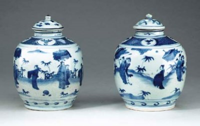 A PAIR OF CHINESE PORCELAIN BL