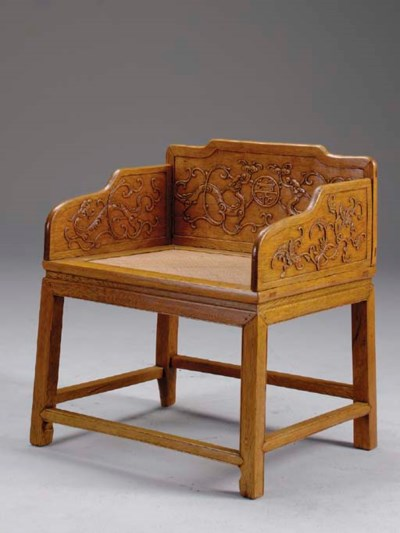 A JIAJIANGMU THRONE CHAIR, BAO