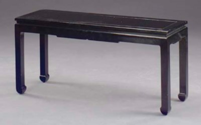 A CHINESE STYLE BLACK LACQUER