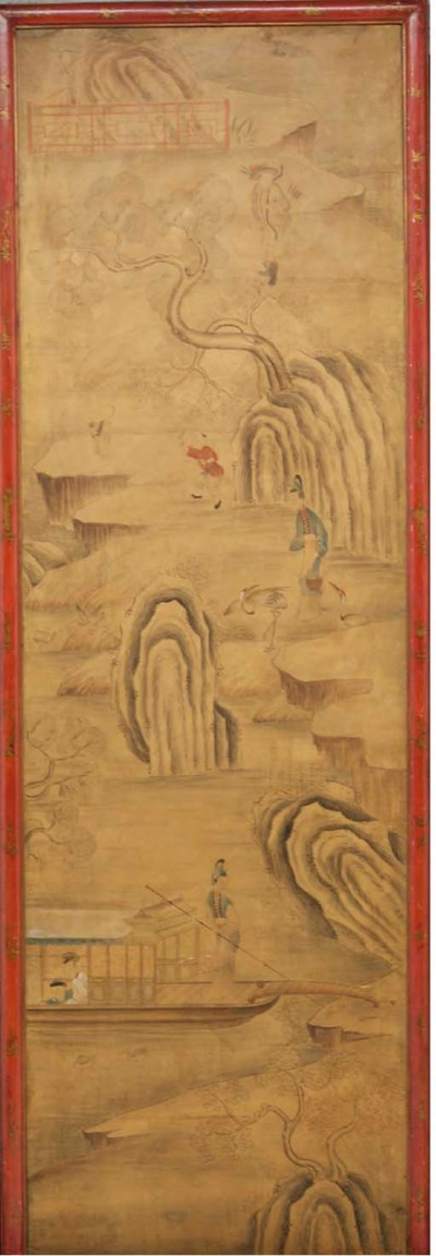 A SET OF THREE CHINESE PAINTED