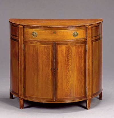A GEORGE III STYLE SATINWOOD D