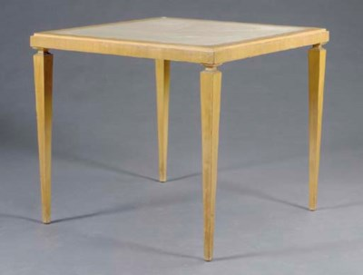 A BLOND FRUITWOOD CARD TABLE,