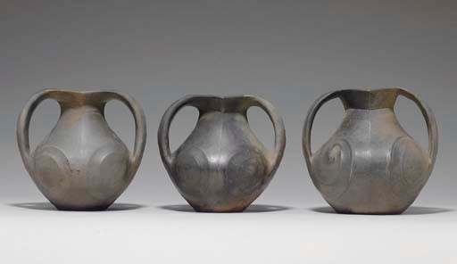 THREE SICHUAN BLACK POTTERY JA