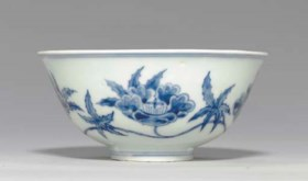 A BLUE AND WHITE CHENGHUA-STYLE DEEP BOWL