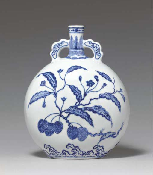 A VERY RARE MING-STYLE BLUE AN
