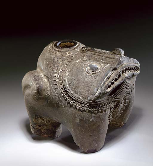 A Stone Vessel in Form of a To