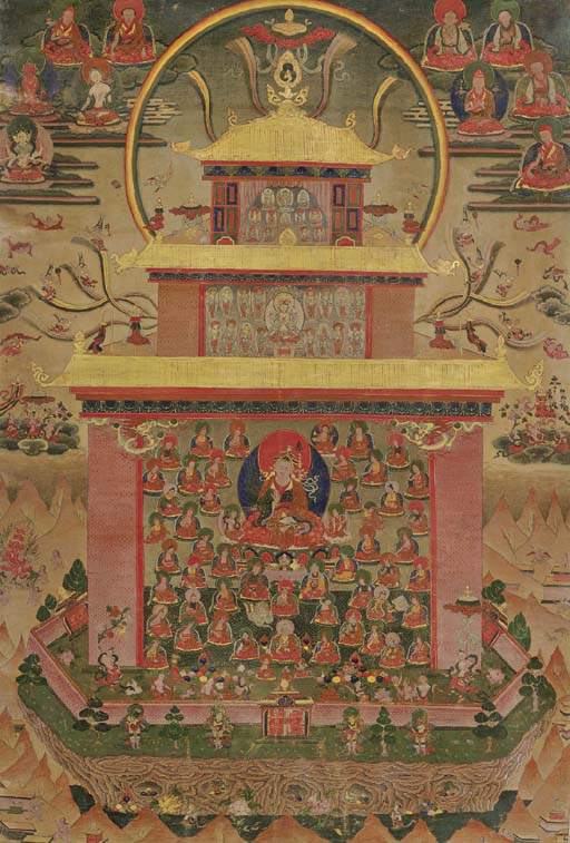 A THANGKA OF PADMASAMBHAVA IN
