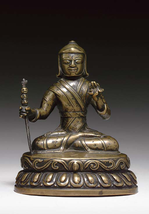 A BRONZE FIGURE OF A NYINGMA L