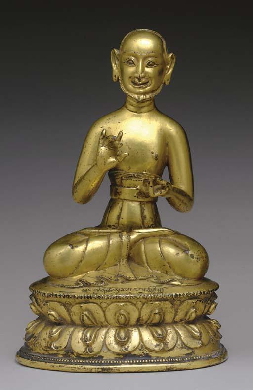 A Gilt Bronze Figure of Shangt